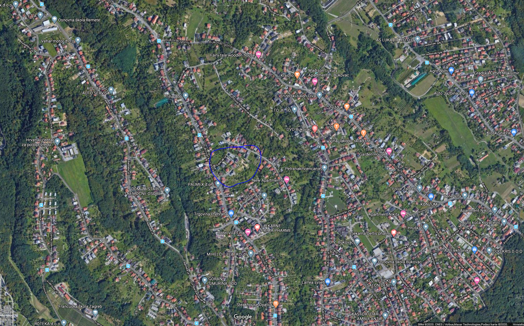 Građevinsko zemljište, Zagreb (Remete), Gajščak, 2885 m2