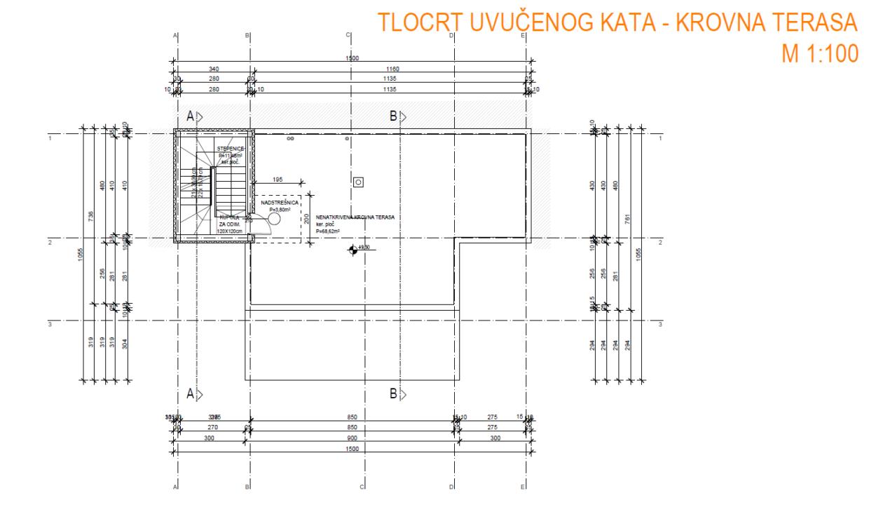 Krovna terasa tlocrt