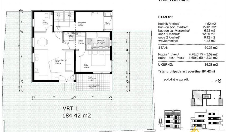 Stan: Zagreb (Borčec) LUX. NOVOGRADNJA, 78.00 m2, 4soban (prodaja)